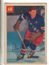 1954-55 Parkhurst Hockey Premium Card #68 Don Raleigh New York Rangers VG/EX.