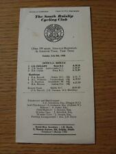 08/07/1956 Castelnau Cycling Club Programme: Open 100 Miles Scratch Handicap And