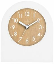 Acctim 33742 Brondby Arch Table Clock in White