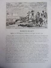 MORTEMART Capitaine au 56e Régiment d'Infanterie 1792