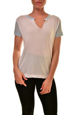 Wildfox Women's Woody Soft WTJ447 000 T-Shirt White/Saddle Blue S RRP £65 BCF89