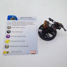 Heroclix Invincible Iron Man set War Machine #029a Rare figure w/card!