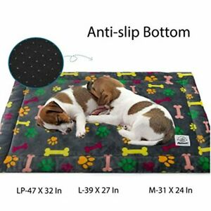 Allisandro Dog Bed Mat, Machine Washable, Dryer Friendly, and Non Slip Crate Mat