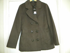 LADIES BM GREEN POLYESTER LINED JACKET, SIZE 14