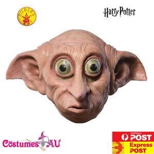 Child Harry Potter Dobby 3/4 Vinyl Mask House-Elf Book Week Costume Accessory