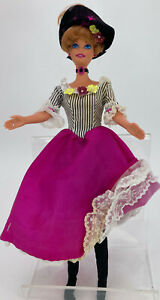 Barbie Loose Doll France 1996 Dolls of the World in Can Can Costume Blue Eyes