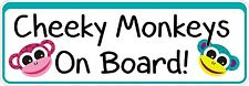 Bumper Sticker Cheeky Monkeys on board funny Decal Graphic Vinyl Label V2