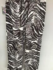 ❣️Peter Alexander  Elasticated wide legged trouser Uk size Medium Black & White