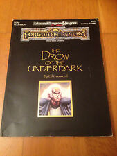 AD&D 2 - THE DROW OF THE UNDERDARK - TSR Forgotten Realms Jeu de Rôle JdR RPG