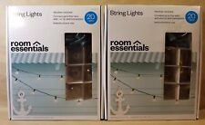 Room Essentials In/Out Weather Rest 20 Clear String Lights 16ft (Lot Of 2 Boxes)