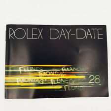 Genuine Rolex Day Date Booklet 1983