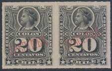 "CHILE 1878-99 COLUMBUS Sc 31 PAIR OVPTD ""SPECIMEN"" MNH VF"