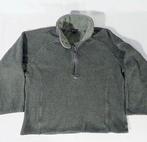 LOWE ALPINE Women's XL Fleece 1/4 Zip Pullover Jacket Soft Funnel Neck Green