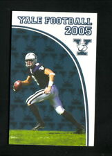 Yale Bulldogs--2005 Football Pocket Schedule--New Haven Register