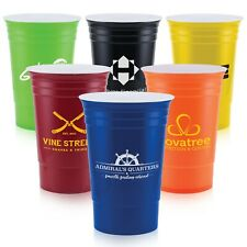 Personalized Bold 16 oz. Double Wall Cup Printed with your Logo + Text - 100 QTY