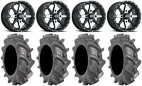 "ITP Cyclone 14"" Wheels Machined 30"" BKT AT 171 Tires Polaris RZR Turbo S / RS1"