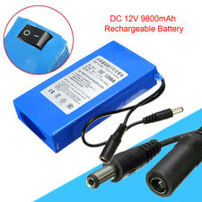 NEU 1298A 12V DC 9800mAh Aufladbarer Polymer Li-Ion Akku für CCTV Kameras EU