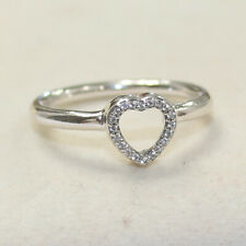 NEW AUTHENTIC PANDORA PUZZLE HEART FRAME RING CHOOSE SIZE 196549CZ W SUEDE POUCH