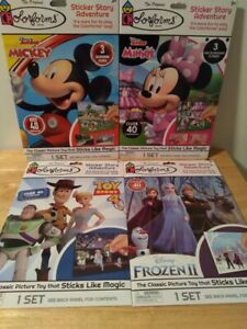 Lot of 4 Colorforms® DISNEY Sets = Mickey Minnie Mouse Toy Story Frozen II  New