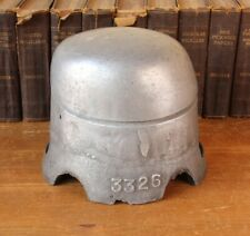 Vintage Industrial Aluminium Hat Form Block. Antique Mould Shop Display Prop