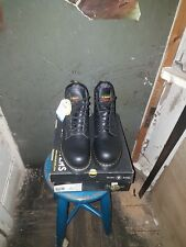 Dr Martens Icon Black SB Smooth Leather 7 Eyelet Lace PPE Safety Boot - DM396AX