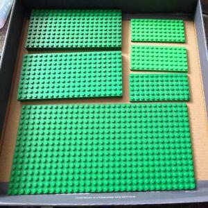LEGO various green base boards plates