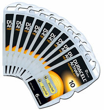 30 x Duracell Piles pour appareils auditifs ACTIVAIR Easytab PR70 type 10