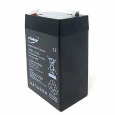 Powery Blei-Gel Akku UP6-6 6V 6Ah 6V 6Ah/36Wh Lead-Acid Schwarz