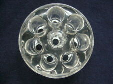 Vintage Clear Glass Floral Frog 8 Holes Beautiful Clear Collectible