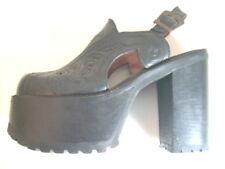 meine tollen BUFFALO High-Heel Plateau Clogs, Schwarz, getragen Gr.41