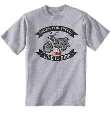 HONDA CB50-Nuovo T-Shirt grigio Cotone-Tutte le taglie in magazzino