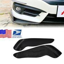 Black Front Bumper Lip Splitters Spoiler Winglet Blade Valances Carbon fiber