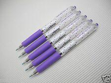 6pcs NEW Dot Violet Uni-Ball Signo UMN-138S 0.38mm roller pen Black ink (Japan)