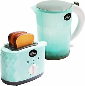 Kids Toy Play Kitchen Super Chef My First Kettle & Toaster With Light & Sounds
