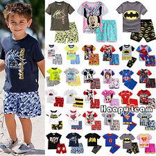 2Pcs Garçon D'Enfants Été Tenues Vêtements T-Shirt + Short Pyjama de Nuit