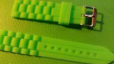 BRACELET MONTRE SILICONE  vert   *******20mm / ********    ref.   BM34