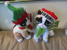 CHRISTMAS PAIR OF GRUMPY CATS-PLUSH SOFT-REDUCED