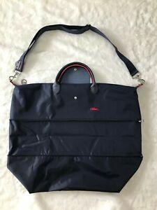 Longchamp Le Pliage CLUB XXL Expandable TRAVEL BAG Navy Blue Authentic