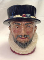 "ROYAL DOULTON TOBY JUG / MUG LARGE BEEFEATERS VINTAGE 7"" TALL SEVERAL NUMBERS"
