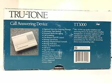 Tru-Tone Call Answering Device Model Tt3000 Ivory Color
