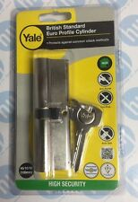 Yale Locks Euro Double Cylinder Kitemark 45 x 45 (100mm) Nickel Plated Visi