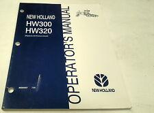 1999 NEW  HOLLAND HW300 HW320 WINDROWER  Operators Manual