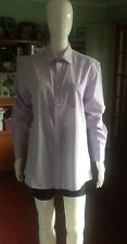 Lilac Striped Shirt Size 15 1/2 Collar By Thomas Nash