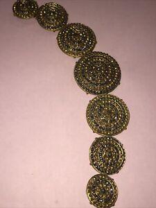 Exquisite Rare Antique  Victorian Cut Steel Necklace. Bracelet Set