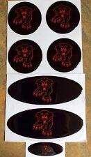 Conjunto de superposición de Gel Negro Panther diseñado para el FORD FOCUS ST PFL & Fl (rojo)