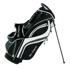 Ben Sayers Deluxe Stand Bag - Black/White
