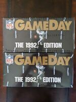 Lot of 2 ~1992 NFL GAMEDAY DYNAMIC TALLBOYS  Sealed Boxes~ Montana Rice Sanders?