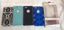 Case-Mate Naked Tough Waterfall iPhone 6 Plus  Lot Damask Hybrid Rose Glitter