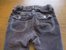 Girls 3 Gymboree Kitty Glamour Brown Corduroy Stretch Pants Adjustable Waist GUC