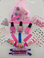 Girls Pamper Party Birthday Party Pre-filled Pink Organza Gift Bag Sleepover